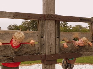 Hanging out in the stocks at Colonial Williamsburg
