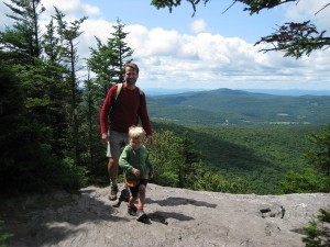 Hiking on Sunset Rock on the Long Trail, Vermont