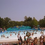 Wave pool at Water Country USA