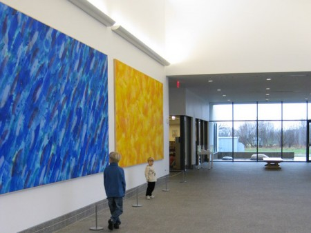 The Lobby of the Eric Carle Museum of Picture Book Art