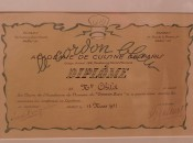 Julia Child's Cordon Bleu diploma