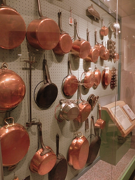 Julia Child's pans at the National Museum of American History