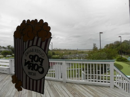 The Outer Banks Popcorn Company in Corolla looks out over the Currictuck Sound