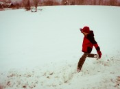 Playing in the Vermont snow