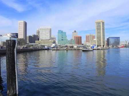 View of the Inner Harbor in Baltimore from the MD Science Center