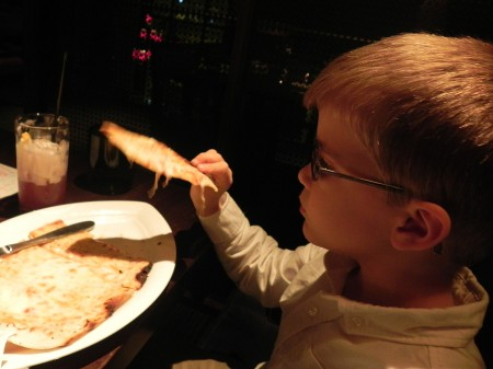 "Kid's ""pizza"" at B&O Brasserie in Baltimore"