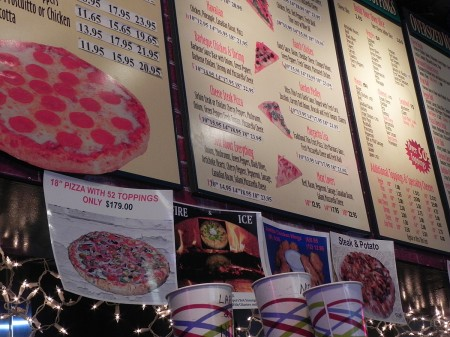 Menu at BOP Pizza in Baltimore