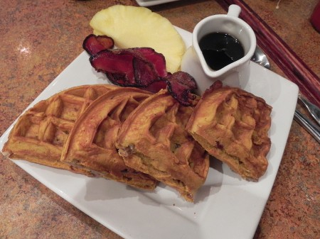 Pumpkin waffles at Regi's in Baltimore