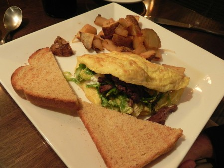 Short rib omelet at B&O Brasserie in Baltimore