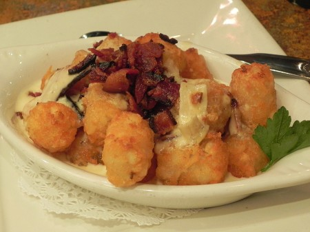 Tater tots at Regi's in Baltimore are given the royal treatment