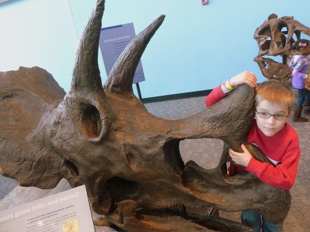 Hanging with a Triceratops at the Maryland Science Center