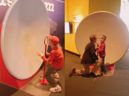 Whispering in the Science Arcade at the MD Science Center