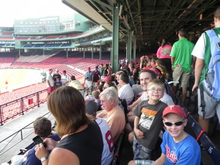 In the Fenway Grandstand