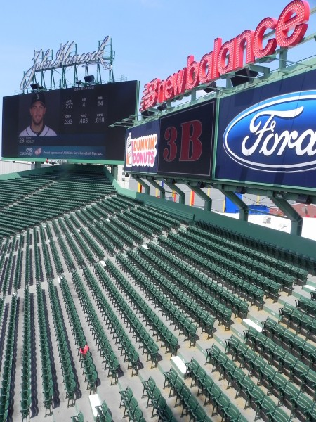 The Lone Red Seat in the Fenway bleachers