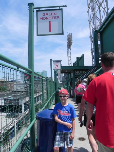 At the top of the Green Monster