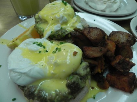Eggs Benedict at Trident Bookseller Cafe