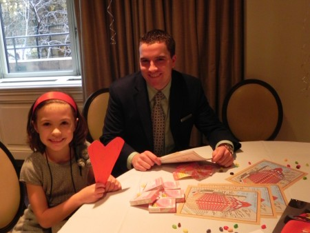Mark helps out at the Omni Berkshire Place Kids Korner