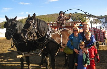 Wagon ride at Keystone Resort in Colorado