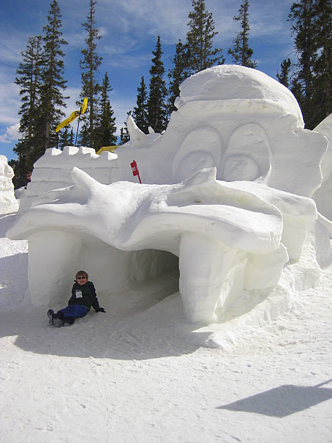 Snow fort at Keystone
