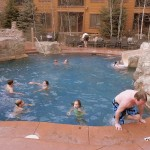 A little winter swim at Keystone Resort