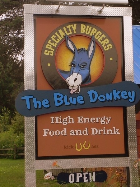 The Blue Donkey in Stowe, Vermont