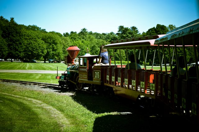 Train at Look Park outside Northampton, Massachusetts