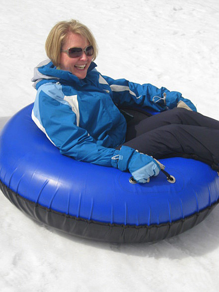 Having fun tubing at Adventure Point, Keystone
