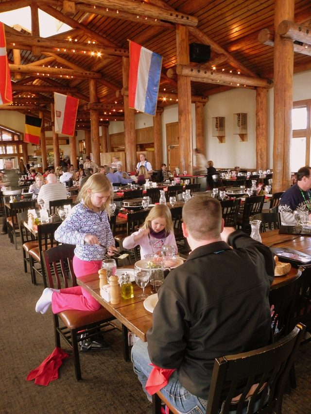 Dining room at Der Fondue Chessel, Keystone Resort