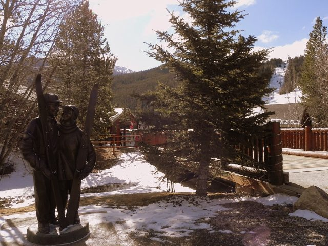 Max Dercum statue at Keystone Resort, Colorado