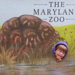 Teddy and Maryland Zoo sign