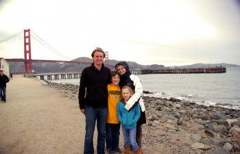 Britt Reints and her traveling family