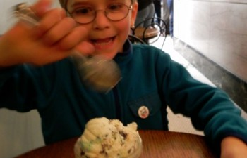 Homemade ice cream at the Franklin Fountain ice cream parlour