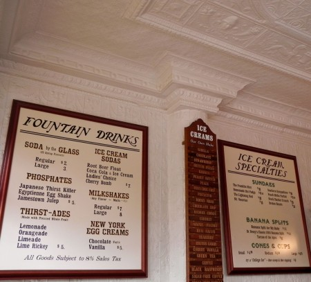 The Franklin Fountain soda fountain menu has something for everyone