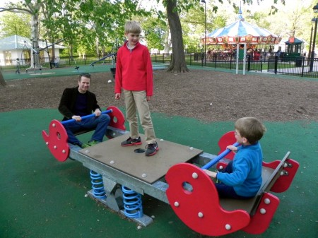 The playground in Franklin Square, Philadelphia is fun for all ages