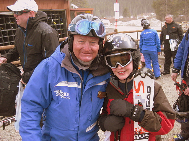 Ski lessons at Keystone, Colorado