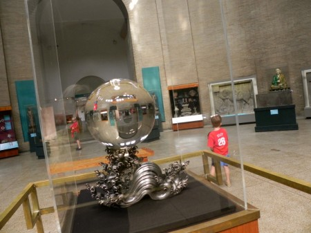 Chinese crystal ball at the Penn Museum