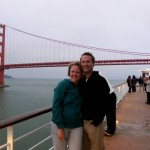 We passed under the Golden Gate Bridge at 5:30 a.m.
