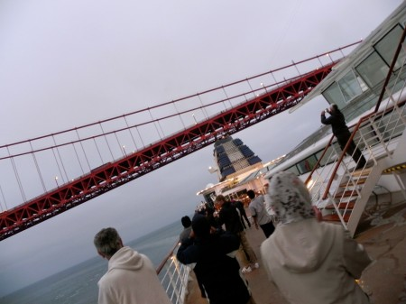 Will the ship fit under the Golden Gate Bridge?