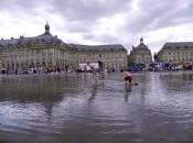 Playing at the Miroir d'Eau in Bordeaux, France