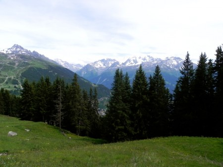 The mountains are all around you in Verbier, Switzerland