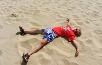 Lying on the great Dune of Pyla