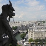 Gargoyle atop Notre Dame Cathedral in Paris