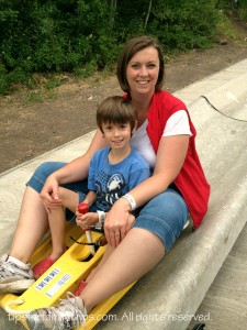 Allison Laypath on the Park City Alpine Slide
