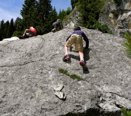 Rock climbing in Verbier, Switzerland