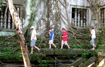 Jungle temples in Beng Mealea, Cambodia