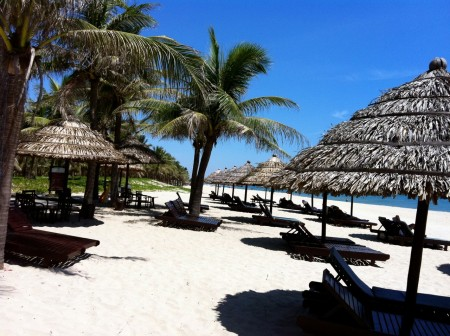 Glorious beaches in Hoi An, Vietnam
