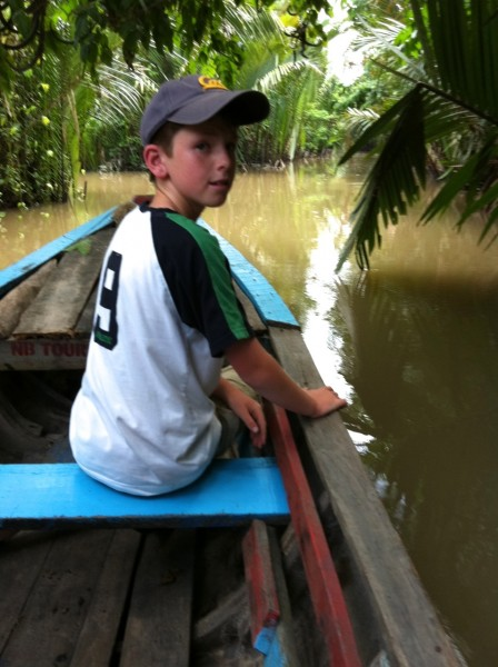 Boating in the Mekong Delta, Vietnam