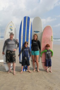 Emily Bradbury and her surfing family