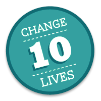 Water.org Ten Lives Badge