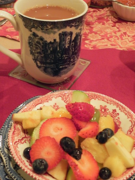 I loved all the mismatched china at the Wedgwood Inn in New Hope